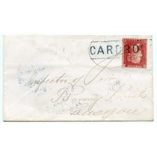 1858 scarce cover to Glasgow 1d Stars tied by CARDROSS Scots Local