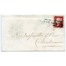 "1857 cover to Clackmannan 1d Stars - scarce ""OLD KILPATRICK"" Scots Local cancel"