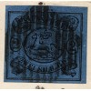 1862 23rd June cover from Brunswick to Einfurt bearing 2 sgr black on deep blue (SG 9) neatly tied by grid cancel with blue BRAUNSCHWEIG c.d.s. alongside.