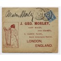 "1902 - an illustrated printed envelope for ""J.G. Morley, Harp Maker"" addressed to London bearing 25c Mouchon tied by Paris c.d.s. Most attractive."