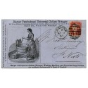 "1865 1d rose-red on SUPERB ""Clothes Wringer"" Advertising cover"