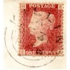 1857 1d rose-red on a wrapper addressed locally within Killin, Perthshire, being neatly tied by the double ring Killin datestamp